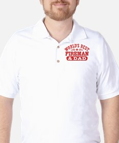 World's Best Fireman and Dad Golf Shirt