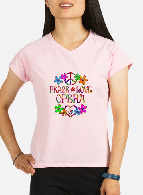 Peace Love Opera Performance Dry T-Shirt