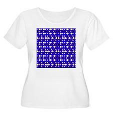 Blue Ebony Yellow Shapes Jerome' Plus Size T-Shirt