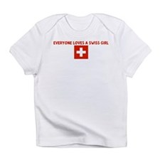 Cute Switzerland girl Infant T-Shirt