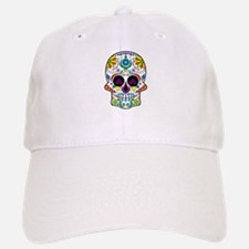 Colorful Floral Sugar Skull Baseball Baseball Cap