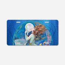 Clive Erotic Pearl Mermaid Aluminum License Plate