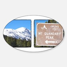 Quandary Peak and info Decal