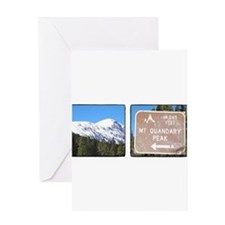 Quandary Peak and info Greeting Cards