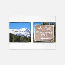 Quandary Peak and info 5'x7'Area Rug