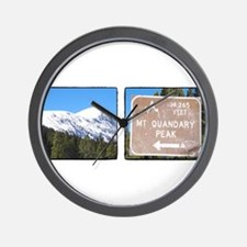 Quandary Peak and info Wall Clock