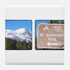 Quandary Peak and info Tile Coaster