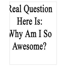 The Real Question Here Is: Why Am I So Awesome? Poster