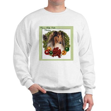 Collie Christmas Sweatshirt