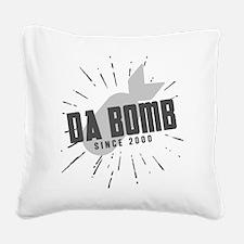 Birthday Born 2000 Da Bomb Square Canvas Pillow