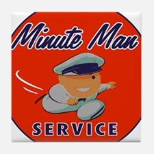 Minute Man Tile Coaster