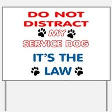 SERVICE DOG Yard Sign