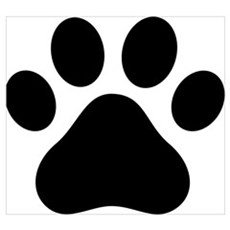 Puppy Paw Poster