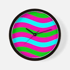 Pink Blue Green Kaye's Fave Wall Clock