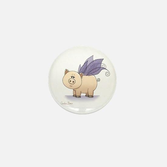 Teacup pig Mini Button