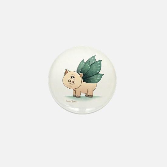 Cute Teacup pig Mini Button