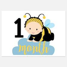 1 Month Monthly Milestone Invitations