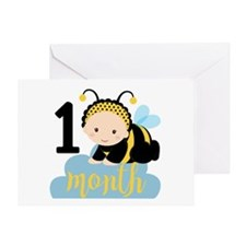1 Month Monthly Milestone Greeting Card
