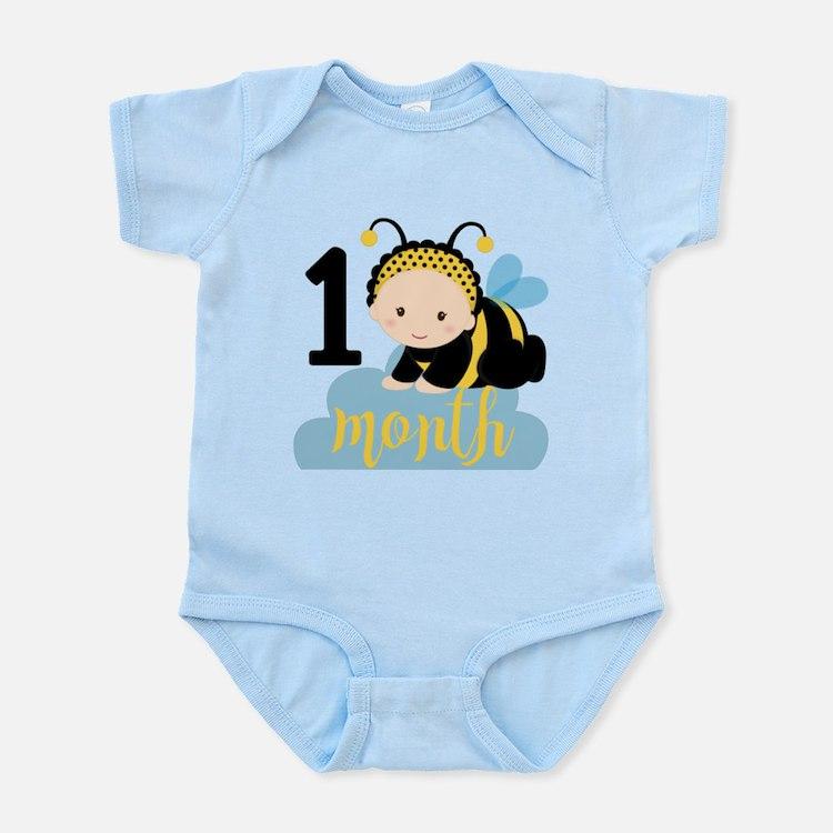 1 Month Monthly Milestone Infant Bodysuit