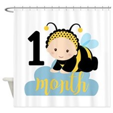 1 Month Monthly Milestone Shower Curtain