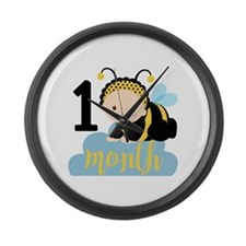1 Month Monthly Milestone Large Wall Clock