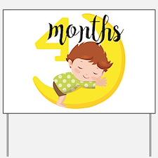 4 Months Monthly Milestone Yard Sign