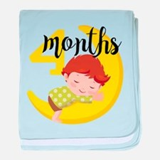 4 Months Monthly Milestone baby blanket