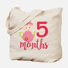 5 Months Monthly Milestone Tote Bag