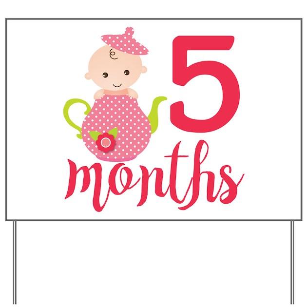 5 Months Monthly Milestone Yard Sign By FamilyEmporium