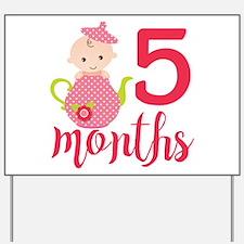 5 Months Monthly Milestone Yard Sign