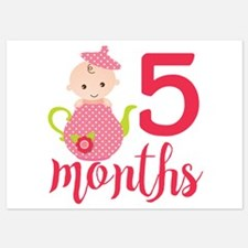 5 Months Monthly Milestone Invitations