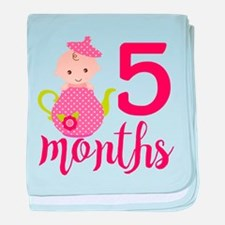 5 Months Monthly Milestone baby blanket