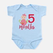 5 Months Monthly Milestone Infant Bodysuit