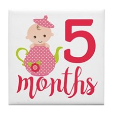 5 Months Monthly Milestone Tile Coaster