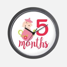 5 Months Monthly Milestone Wall Clock