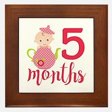 5 Months Monthly Milestone Framed Tile