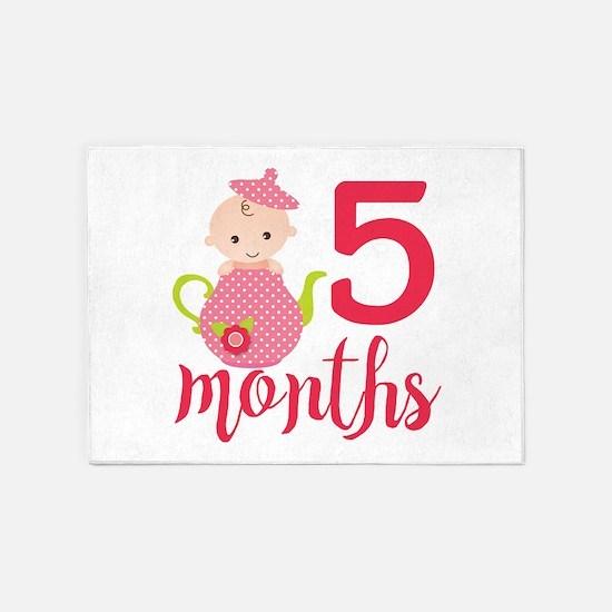 5 Months Monthly Milestone 5'x7'Area Rug