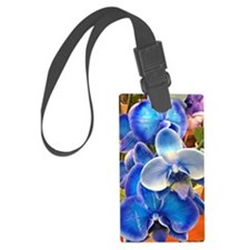 Blue Orchids Luggage Tag