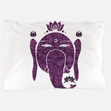 Floral Diwali Purple And Pink Pillow Case