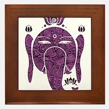 Floral Diwali Purple And Pink Framed Tile