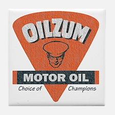 OilZum Retro Logo Tile Coaster