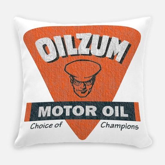 OilZum Retro Logo Everyday Pillow