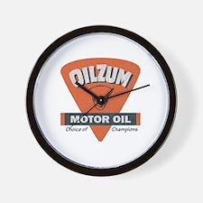 OilZum Retro Logo Wall Clock