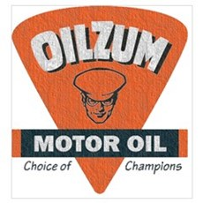 OilZum Retro Logo Canvas Art