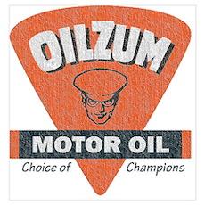 OilZum Retro Logo Poster
