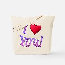 I (Heart) You! Tote Bag