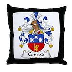 Conrad Family Crest Throw Pillow