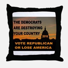 LAST WARNING Throw Pillow
