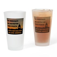 LAST WARNING Drinking Glass