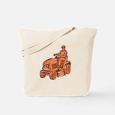 Gardener Ride-On Mower Etching Tote Bag